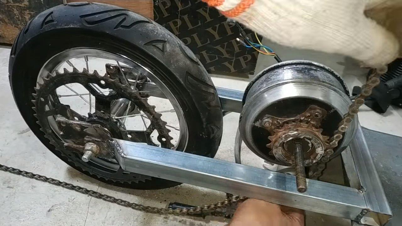 Электрический скутер с батареей на 72В