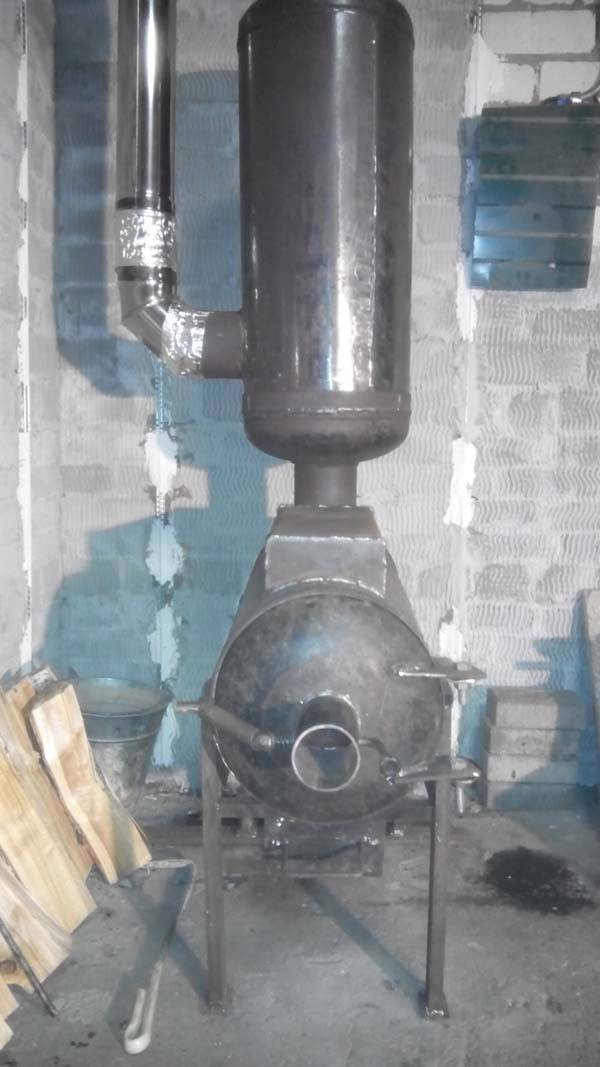 Печь для отопления гаража из газовых баллонов