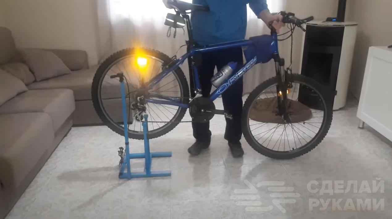 0fb8de5d26b022427246c395fa9869cc - Как сделать домашний велотренажер из велосипеда