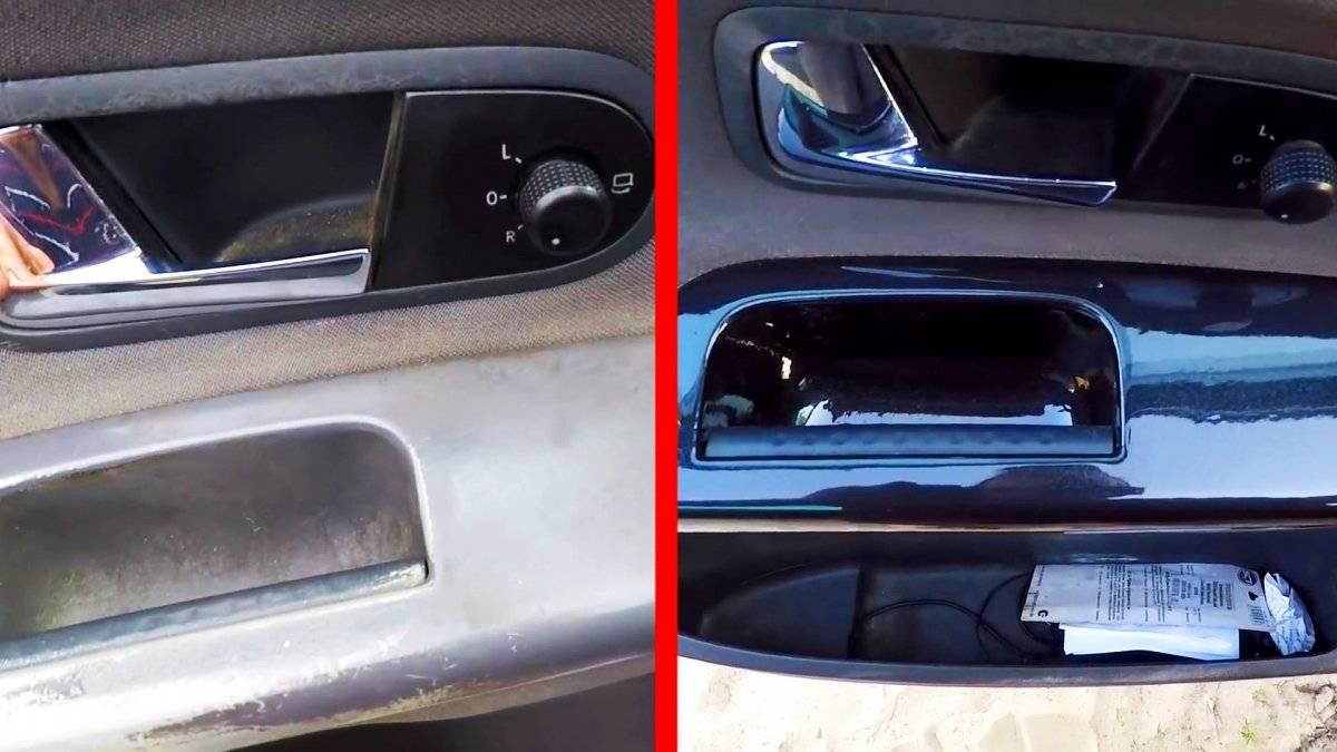 Как восстановить потертый пластик салона автомобиля.