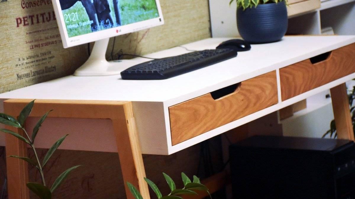 Как сделать компьютерный стол в скандинавском стиле.
