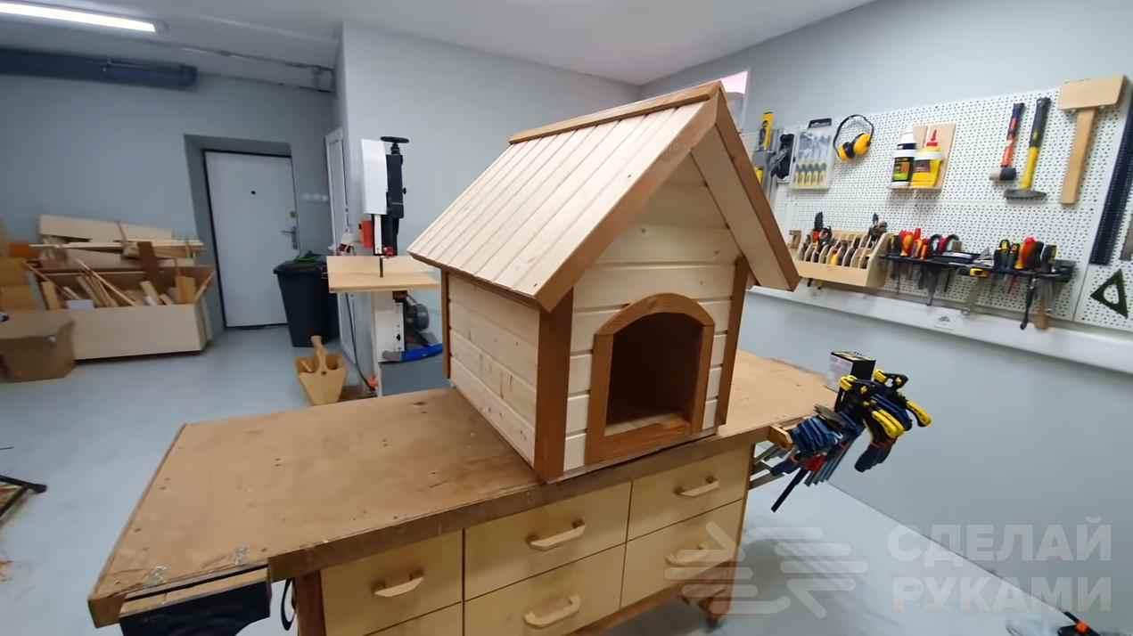 Классная будка для собаки из досок своими руками