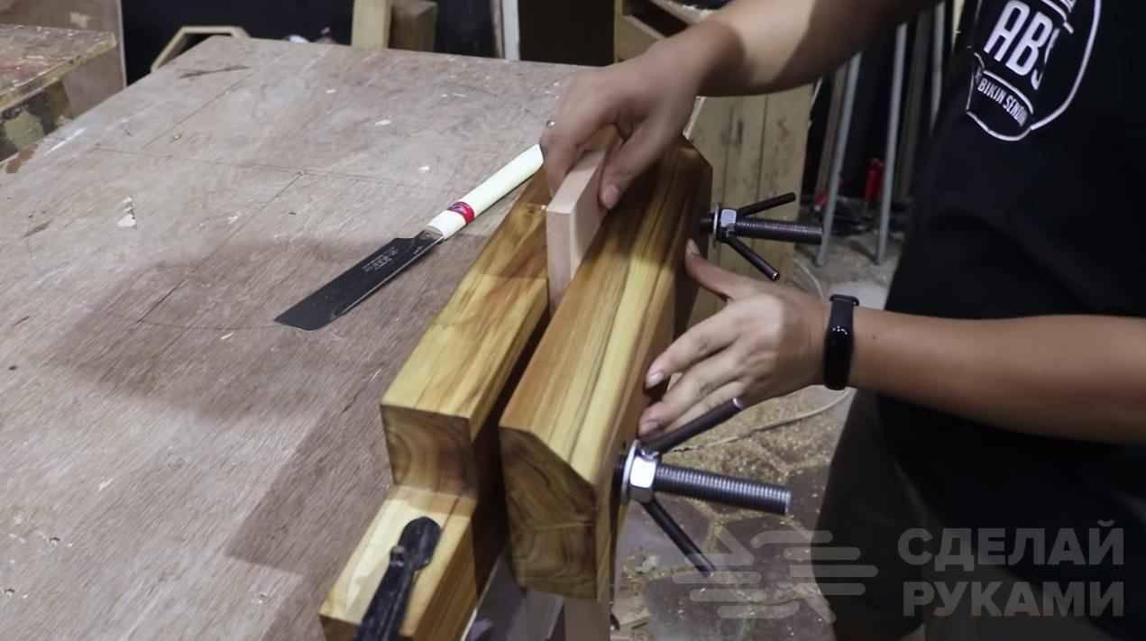 Столярные тиски своими руками для гаража и мастерской