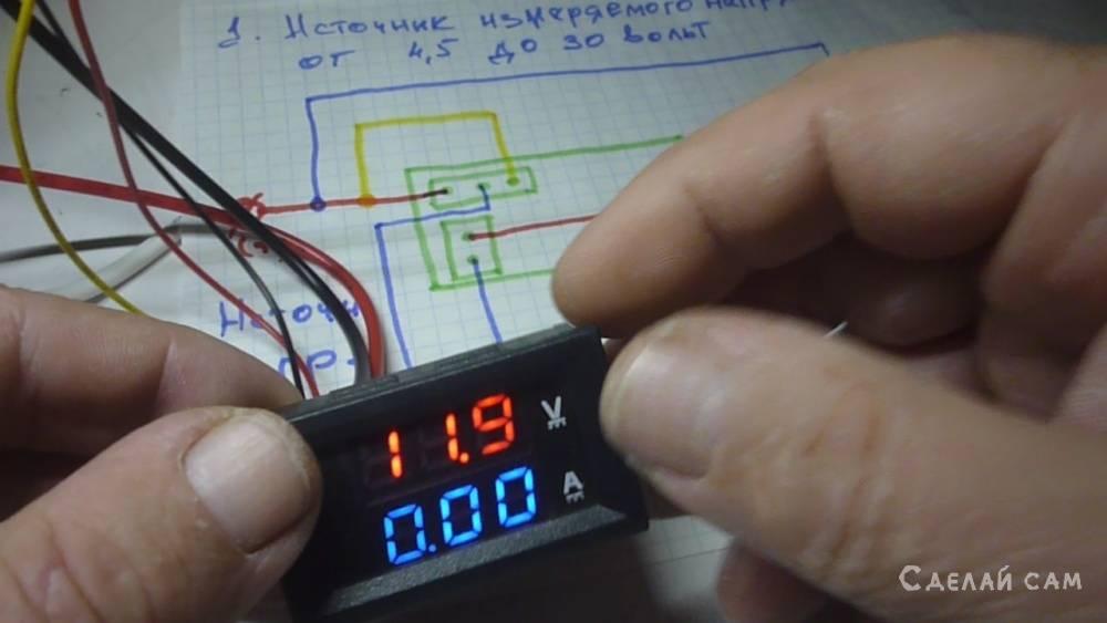 Подключение вольтамперметра DSN-VC288 простым языком.