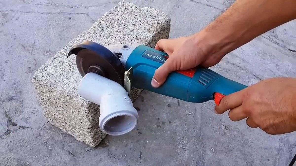 Как заставить болгарку пилить бетон без пыли