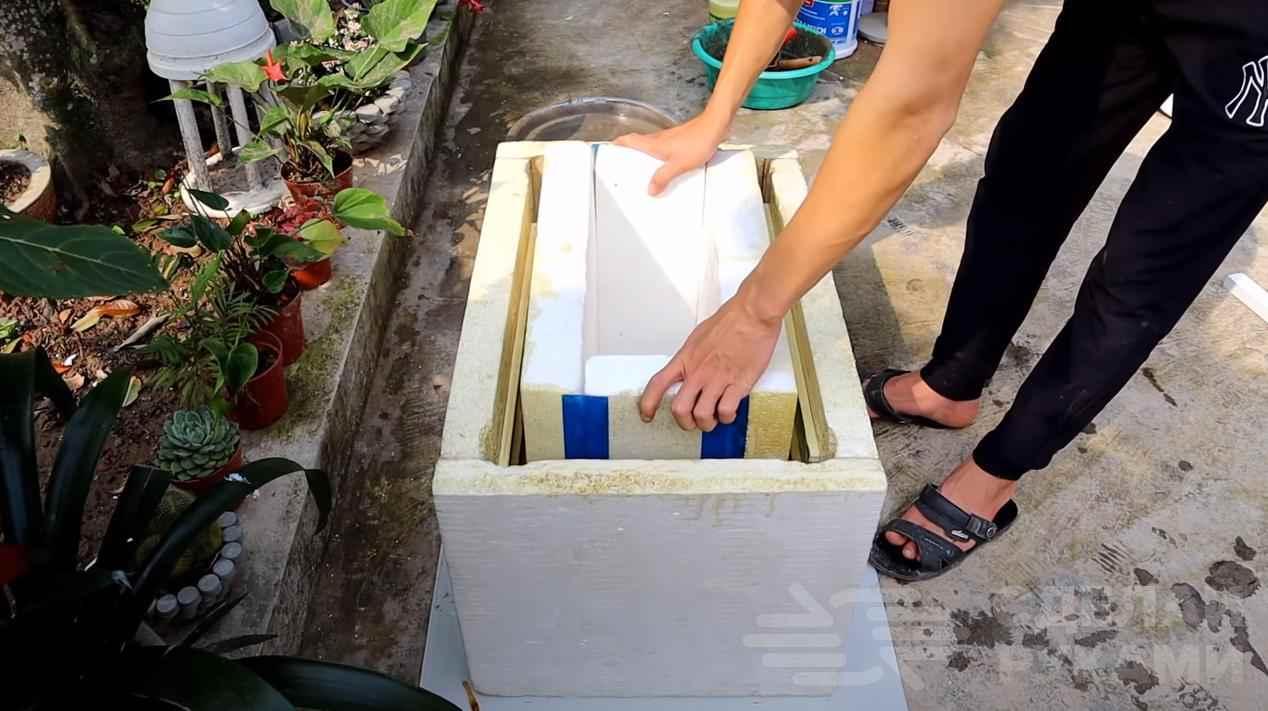 Декоративный ящик для цветов своими руками