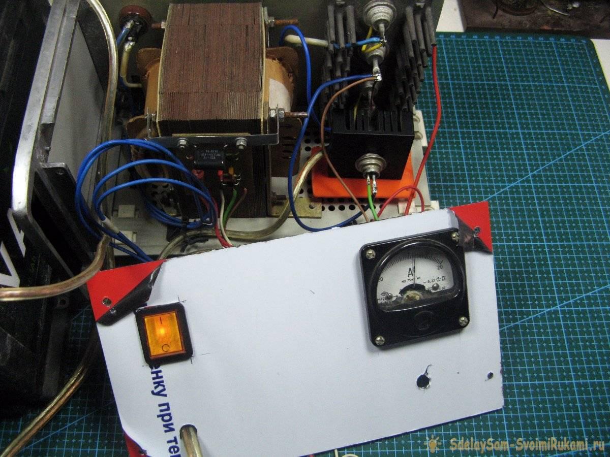 Как сделать зарядное устройство для аккумуляторов авто из доступных деталей