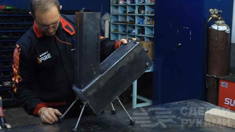 Походная ракетная печь, которая легко собирается и разбирается