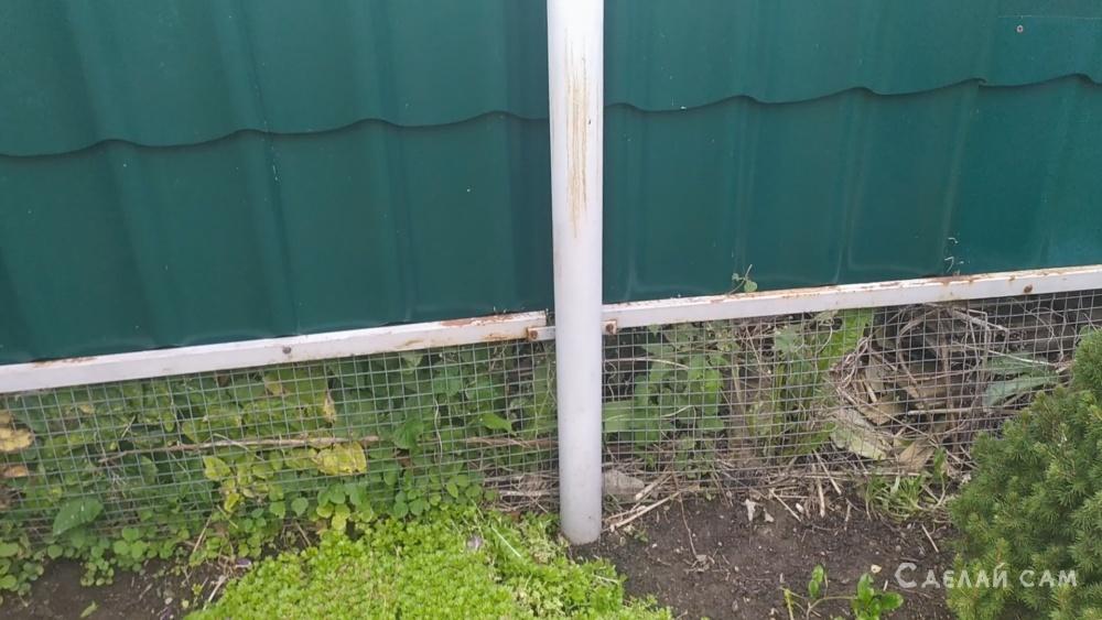 Облегченный забор из профнастила.