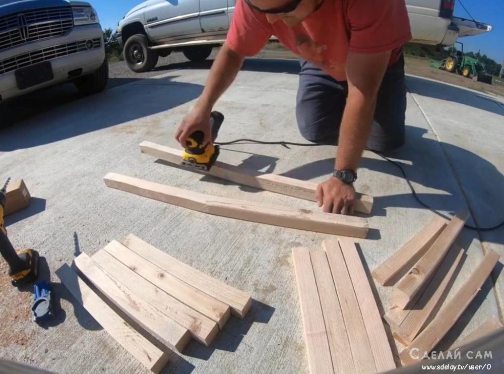 Деревянный стул со спинкой своими руками