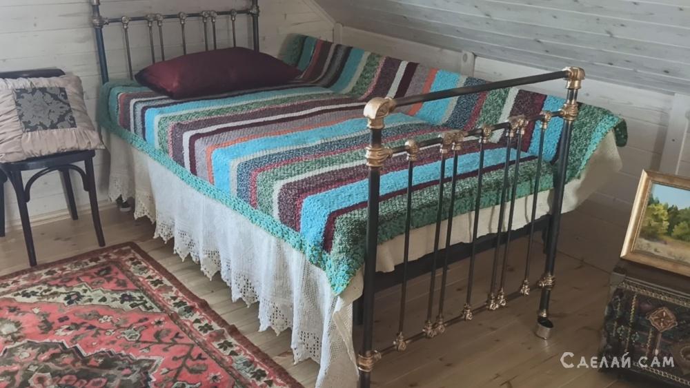 Железная кровать времен СССР - реставрация,.