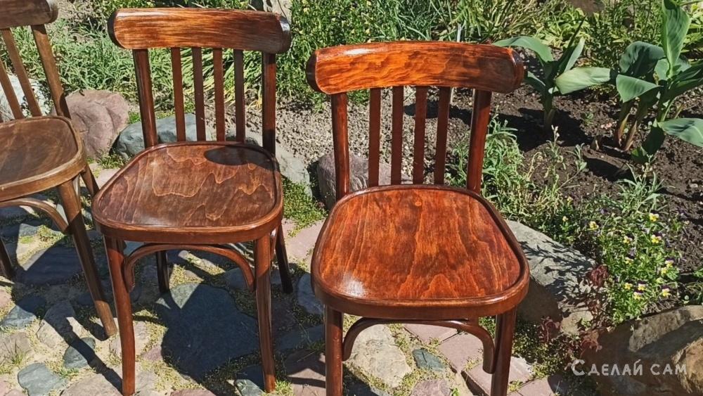 Реставрация венских стульев своими руками.